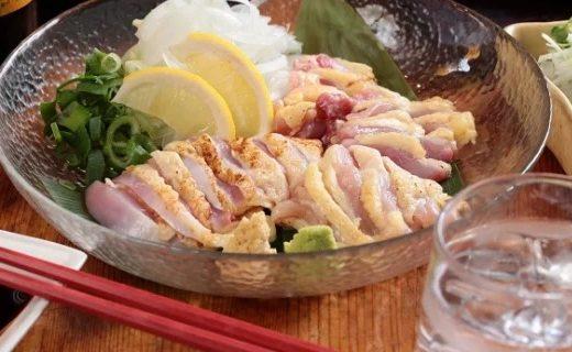 幻の鶏肉 シャポーン鹿児島鶏たたき
